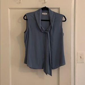 Blue size medium Calvin Klein blouse